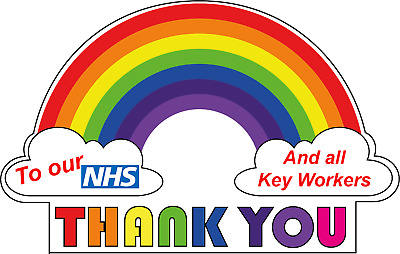 Thank You To NHS We Love Vinyl All Size A4 A5 A6 A7 Self Adhesive Stickers 3790