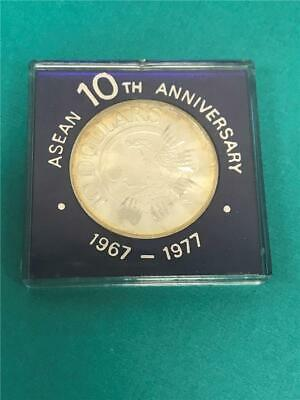 1977 Singapore $10 Asean 10th Anniversary .500 Proof in OGP
