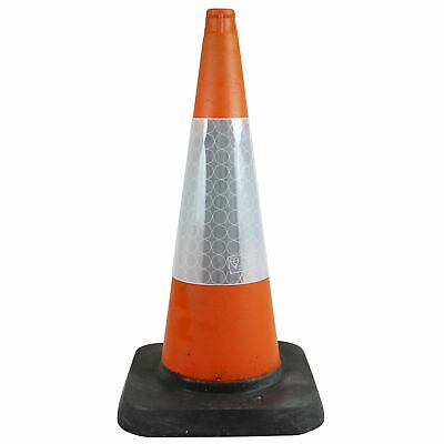 750mm 1-Piece Road Traffic Safety Cone - High Quality Reflective Sleeves - UK Ma