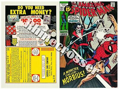 Amazing Spider-Man #101 Beautiful Repro Cover Only w/Orig Ads Key 1st Morbius