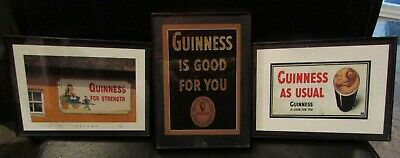 Trio of Guinness Stout Beer Signs