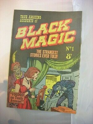 A part set of 1950's Australian Black Magic comic books - 9  of only 11 issued