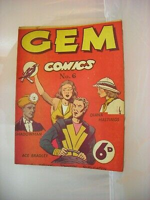 Very rare issue #6 of Australian GEM comic from April 1947
