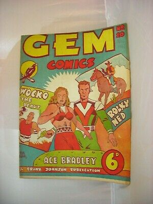 Very rare issue #10 of Australian GEM comic from August 1947