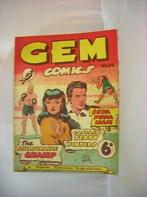 Very rare issue #24 of Australian GEM comic from October 1948