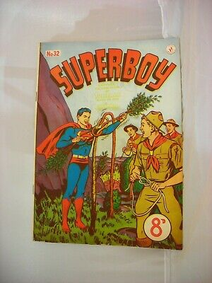 Rare issue #32 of an early Australian Superboy comic