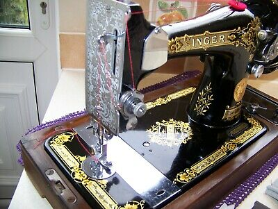 Stunning Singer 28K Heavy Duty Hand Sewing Machine,C/Case,Vibrant Gold  Decals