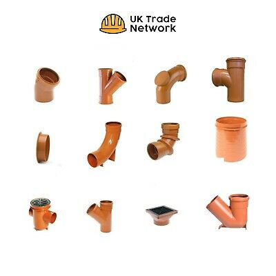 110mm Underground Drainage - Pipe fittings Gullys Traps Repair Couplers Rubber