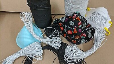 """Elastic Bungee Cord for Making Masks   1/16"""" / 1.5 mm"""
