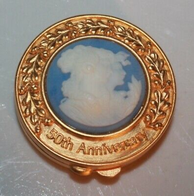 Beautiful Estee Lauder 50th Anniversary Cameo Solid Perfume Compact
