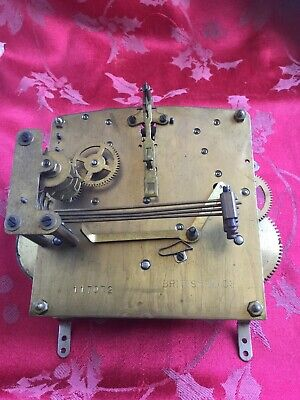 British Made  1/4 Chiming  Clock Movement For Spares Or Repair Good Springs