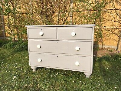 Victorian Antique Pine Chest of Drawers.Painted