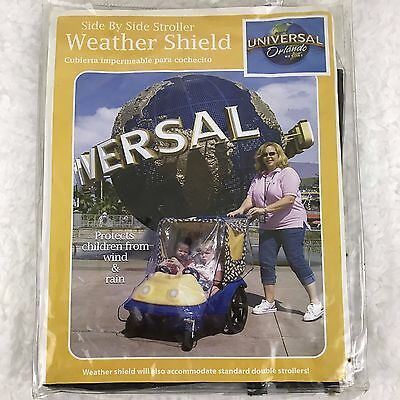 Weather Shield from Universal Orlando Plastic Cover Rain Wind Double Stroller