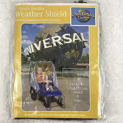 Weather Shield from Universal Orlando Plastic Cover Standard Single Stroller