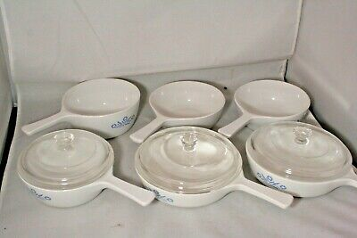 Vintage Corning Ware Blue Cornflower Skillet Pan with lid and more