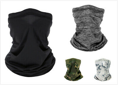 Silk Cooling Motorcycle Cycling Thin Scarf Bandana Anti Dust Half Face Shield