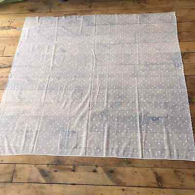 "Vintage Lace Curtain Panel 58"" W x 64"" L White Country Cottage Mesh Dots"