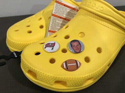 3 Tom Brady Jibbitz, SHOE CHARMS For CROCS, Buccaneers, Rare!