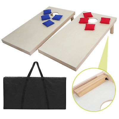 4x2' Foldable DIY Solid Wood Bean Bag Toss Cornhole Board Game Set Size