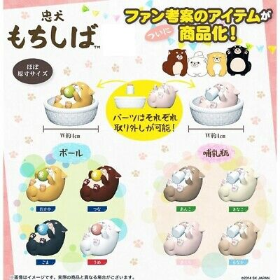 SK Japan BABY SHIBA INU CAPSULE TOY (8 Capsules - Complete Set)