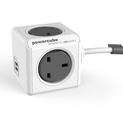 Allocacoc PowerCube Extended USB 3m 4way+2USB Mountable Extension Lead