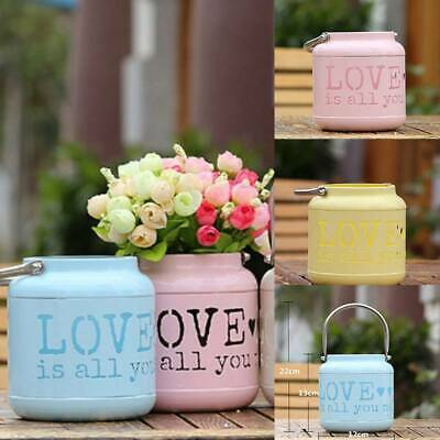 Home Vase Flowers Plant Pot Storage Jar Container Country Style Table Decor LI