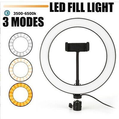 Dimming LED Selfie Ring Light Photography Live Video Studio Phone Fill Lamp Bulb