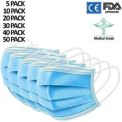 Face Mask 3 Layer Surgical Disposable Mouth Guard Cover FaceMasks Respiration