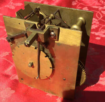 Part 30hr Antique Grandfather Longcase Clock Movement For Spares Or Repair