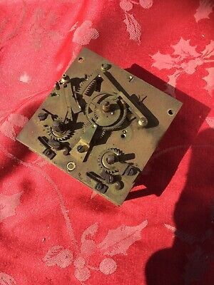 Part Square plate French Marti Clock  Movement Spares Or Repair Good Springs