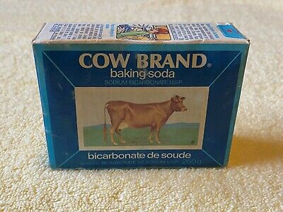 Vintage Cow Brand Baking Soda Box NEVER OPENED