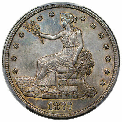 1877 S Trade Dollar PCGS AU-55 Great Type Coin!!
