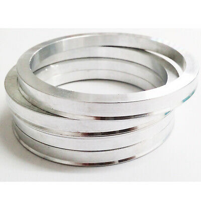 4 x 67.1 - 60.1 Aluminium Spigot Rings For Alloy Wheel Hub Centric Wheel Spacer