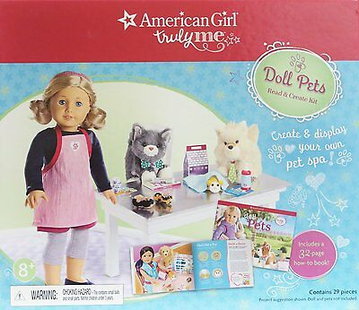 New American Girl Doll Truly Me Doll Pets 29 Piece Read and Create Kit