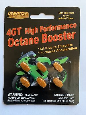 Dyno-tab® 4GT HP Octane Booster 6-tab Card for Motorcycles