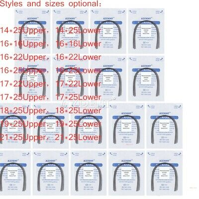 50Packs Dental Orthodontic Niti Thermal Activated Rectangular Arch Wire Natural