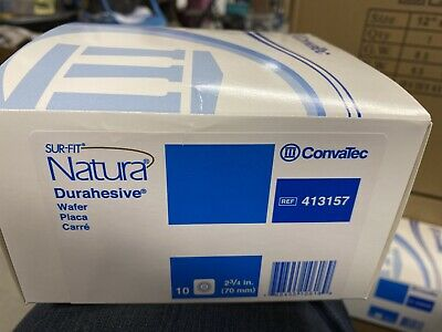 Colostomy Barrier Sur-Fit Natura Durahesive, 2-3/4 Inch Flange Box of 10, 413157