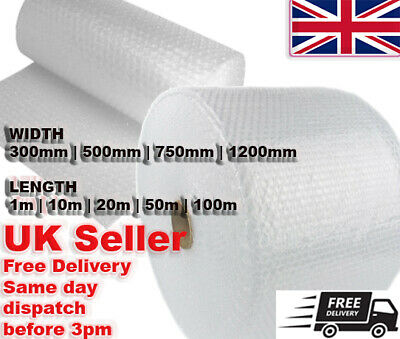 Bubble Wrap Roll Width 300mm, 500mm, 750mm, 1200mm UK STOCK Removals Storage
