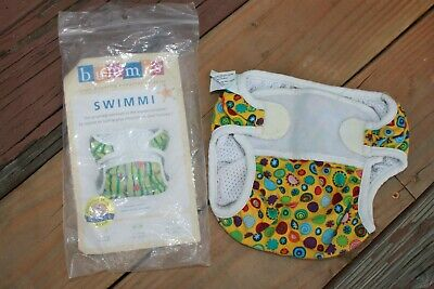 Pizzazz Reusable Swim Diaper - Swimmi by Bummis Size Medium fits 15-22 pounds