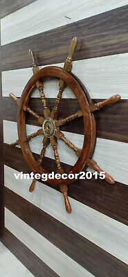 Nautical Vintage Ship Wheel Boat  Steering Maritime Handcrafted Wall Decor