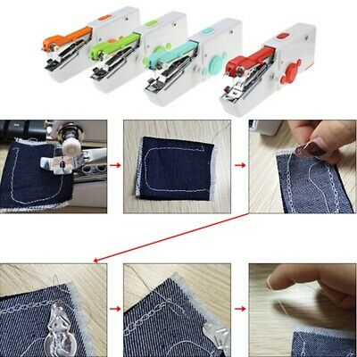 Singer Stitch Sew Quick Small Portable Hand Held Sewing Machine Compact Tool xk