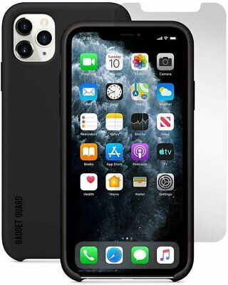 Gadget Guard - Essentials Bundle Case Plus Glass Screen Protector for Apple...