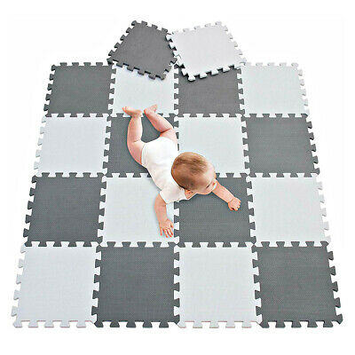 18PCS Mat Soft EVA Foam Baby Play Mats For Floor Jigsaws Puzzle Board Portable