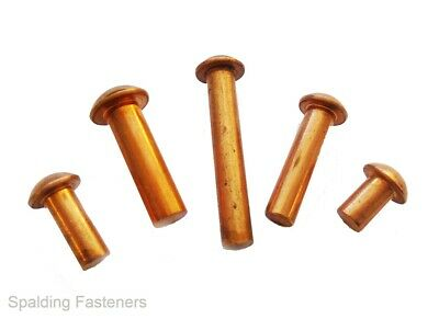 Solid Copper Round Head Riv Nut Hammer In Rivets