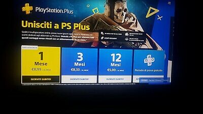 Play Station Plus - Ps Plus 1 Mese Italiano