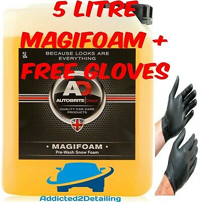 Autobrite Direct 5 Litre Magifoam Snow Foam Pre Wash For Lance Car Shampoo + Glo