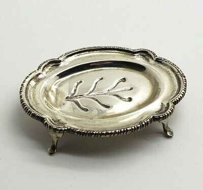 Antique William B Meyers Miniature Sterling Well and Tree Footed Meat Platter !!