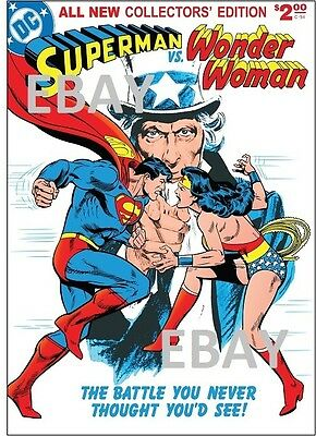 Limited Collector's Edition C-54 SUPERMAN vs WONDER WOMAN PRINT
