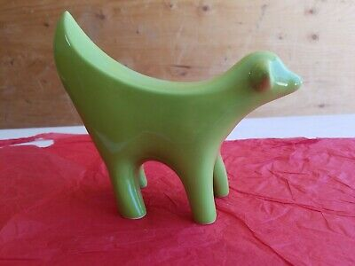 "Superlambanana Ceramic Museum Piece 7.5"" w x 6.25"" Lime green Liverpool MODERN"