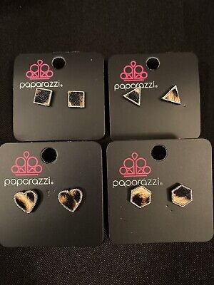 Paparazzi Starlet Shimmer Leopard Print Earrings-4 Pairs